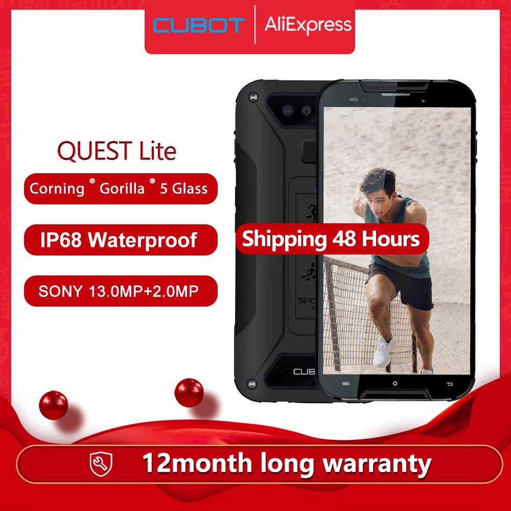 Перейти на Алиэкспресс и купить Cubot Quest Lite IP68 спортивные прочный телефон MT6761 5,0 дюймAndroid 9,0 пирог 3000 мАч 3 ГБ + 32 Гб Смартфон 4G LTE двойной Камера Тип-C