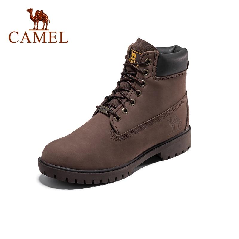 CAMEL Men Women Hiking Shoes Climbing Trekking Boots Outdoor Shoes Anti-slip Tactical Boots Waterproof Warm High-top Shoes