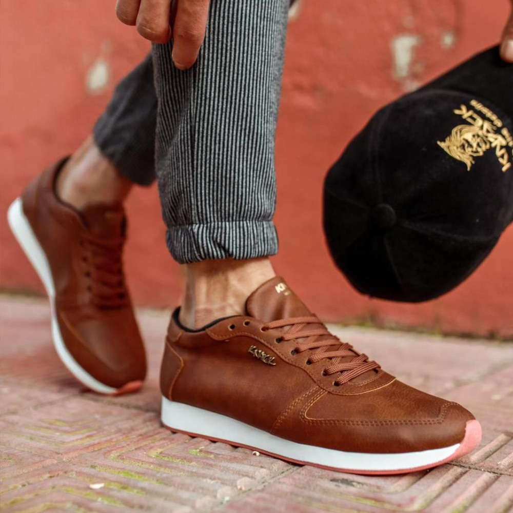 Knack Men's Casual Shoes Tan Brown Comfortable Lace-up Summer 2021 Fashion Men & Teenagers Summer Stylish Clothing New Season Shoes Men Non-Leather Casual Shoes For Men Work Shoes  Luxury Shoes Men Casual Shoes 002