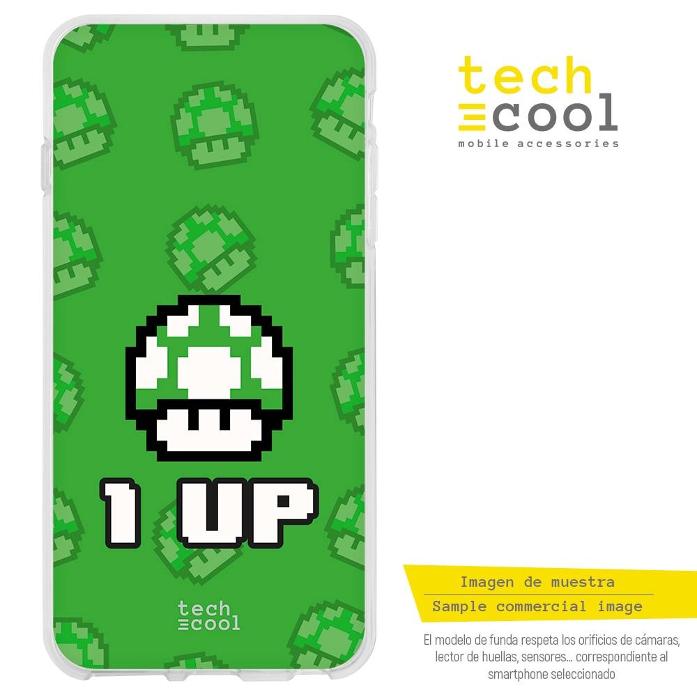 FunnyTech® Funda Silicona para Huawei P9 Lite l Diseño Nintendo Super mario 8-Bits vers.1