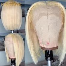 Kurze Gerade Ombre Blonde 613 Bob Lange Brasilianische Spitze Vorne Menschliches Remy Haar Perücken Pre Gezupft Natürliche Afro perücke Für schwarz Frauen