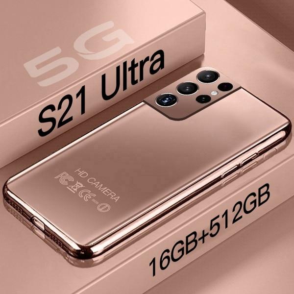 Смартфон S21 Ultra, 16 ГБ + 512 ГБ, Android, экран 6,7 дюйма HD, фотообои, сотовые телефоны 24 + 48 Мп, мобильные телефоны Galaxy 10 Core