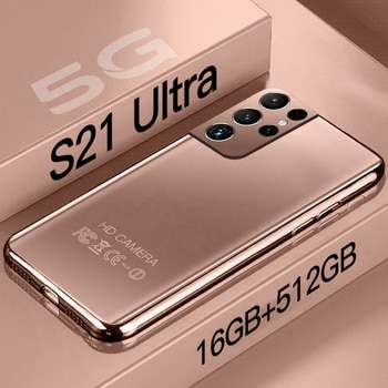 S21 Ultra 16GB+512GB Android Smartphone 6.7 HD Water Drop Screen Global version Cellphones 24+48MP Mobile Phones Galaxy  10 Core