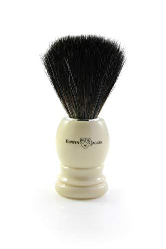 Brocha de afeitar Edwin Jagger Tejón Negro Fibra Marfil