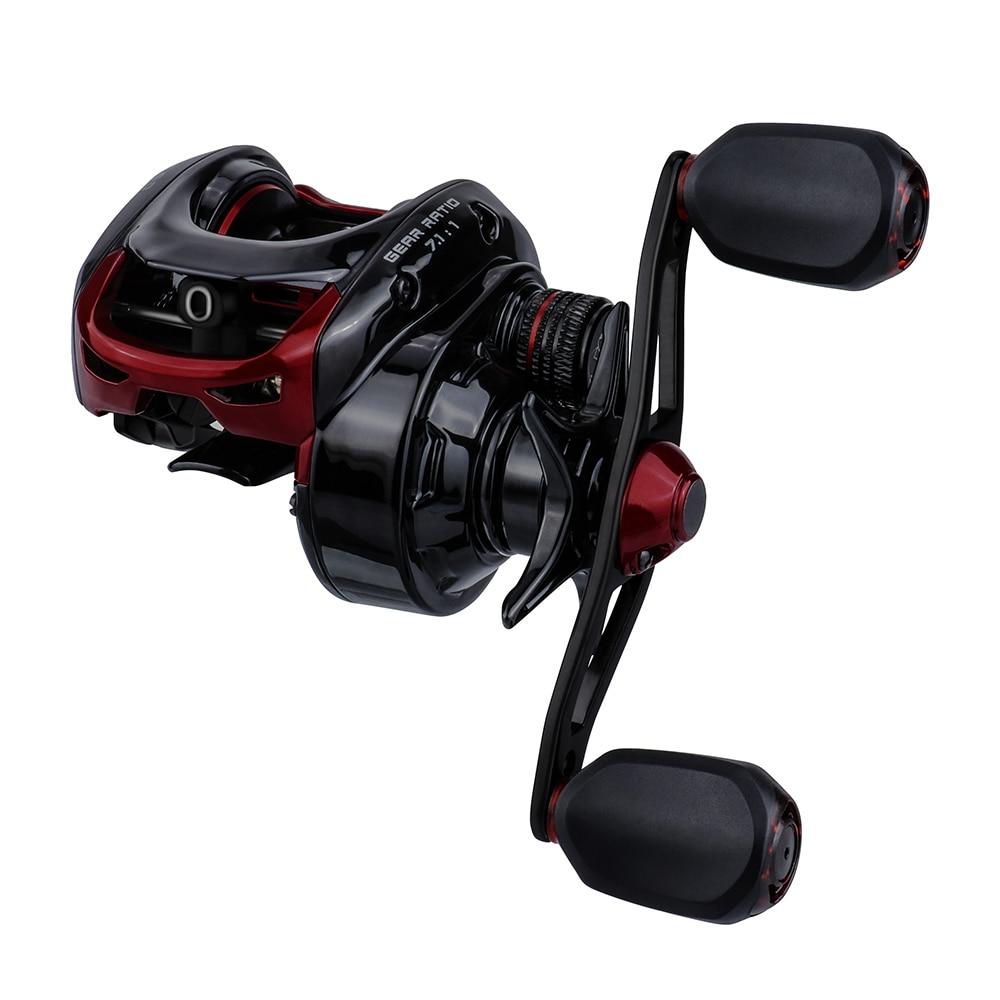 Runcl Best Baitcasting Reel 7.1:1High Speed Fishing Reel 17.6lbs Max Drag Reinforced Reel Drag Reel Fishing reel nursing