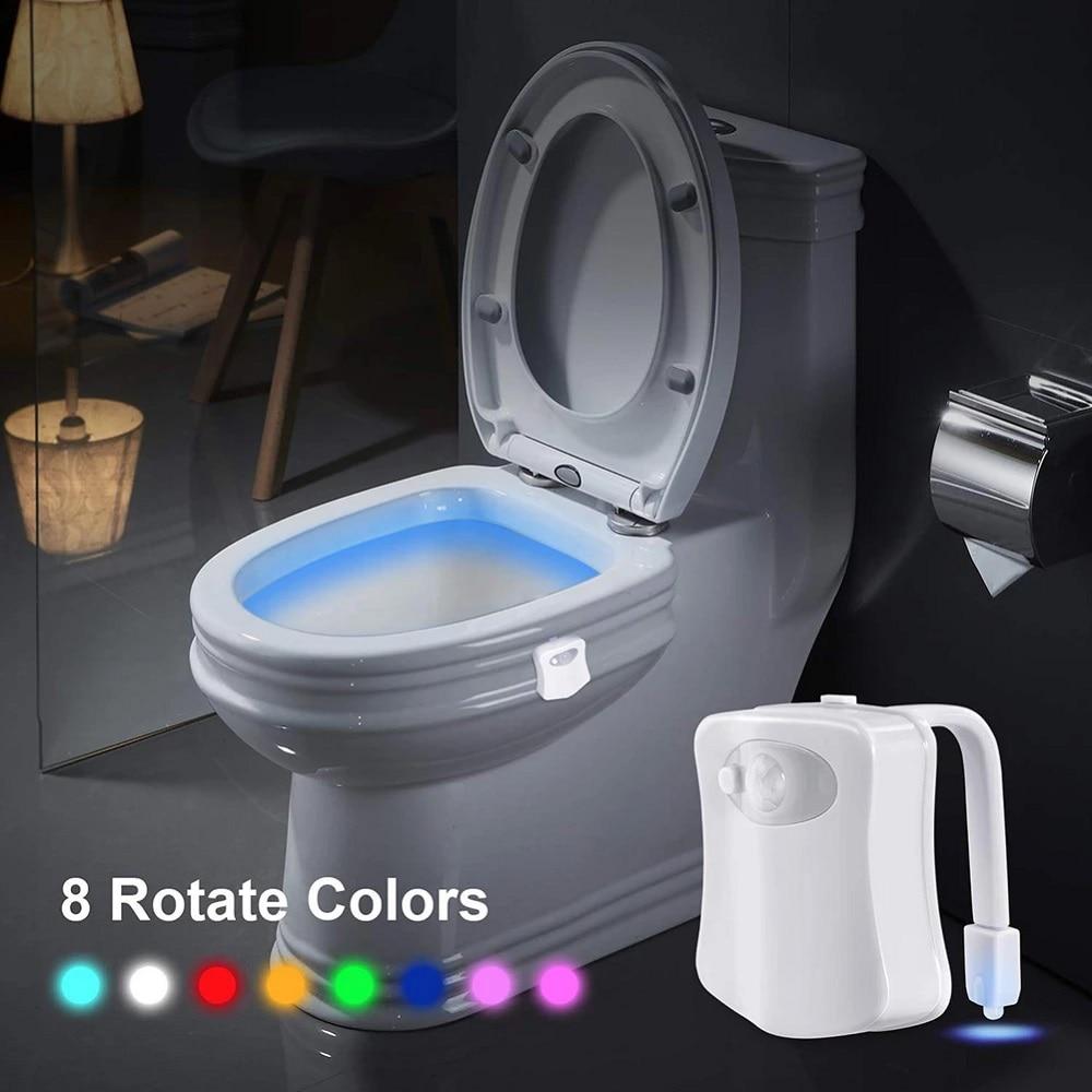 Sensor Wc Toilet Light LED Lamp Human Motion Seat Night Light 8 Colors Changeable Lamp Waterproof Backlight Bathroom PIR