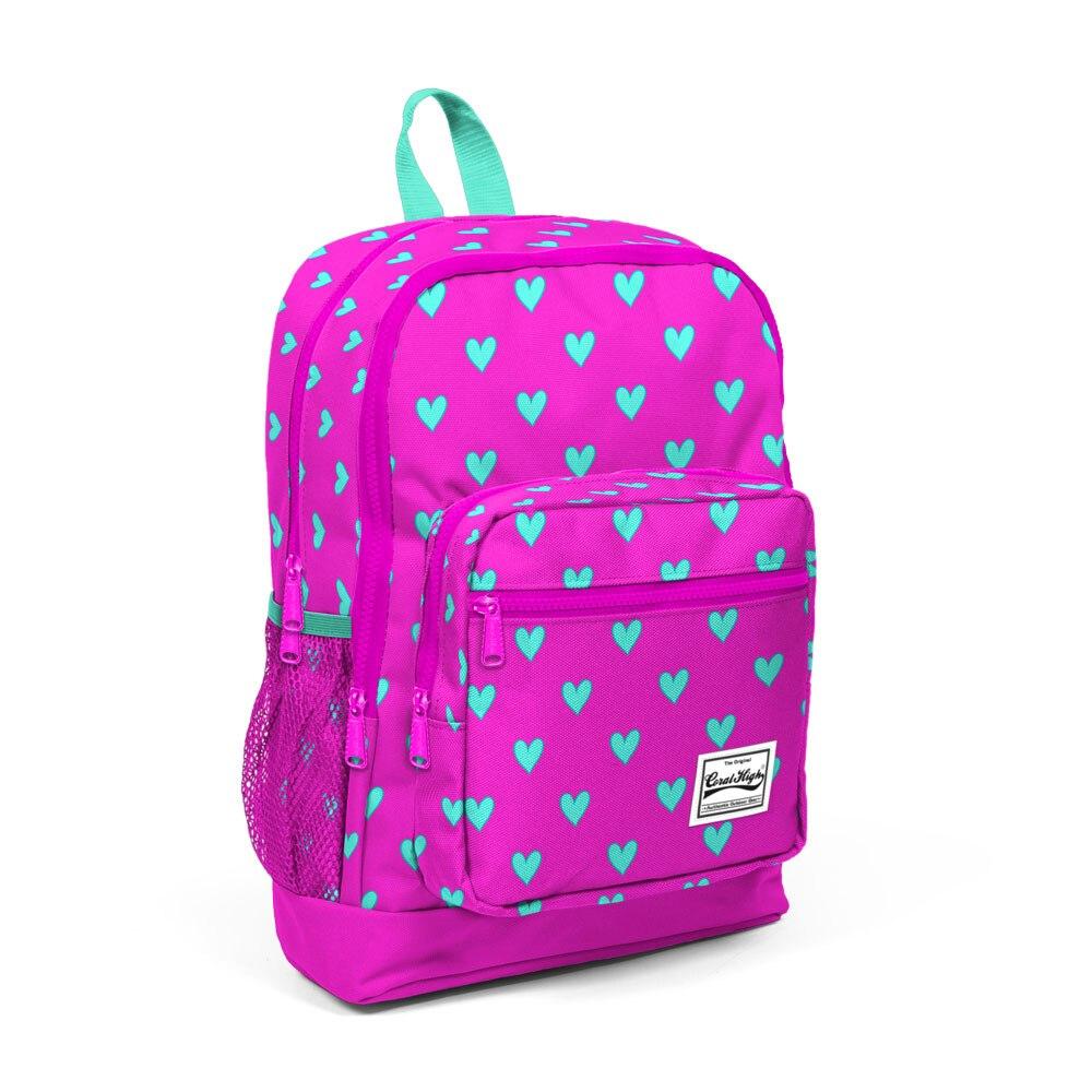 Mochila Coral de patrón rosa para niños-23113, mochila impermeable, mochilas escolares, mochilas de libros, mochilas para estudiantes, temporada 2020