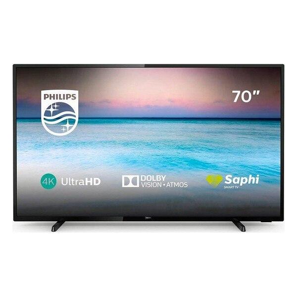 "Smart tv philips 70pus6504 70 ""4 k ultra hd led wifi preto"