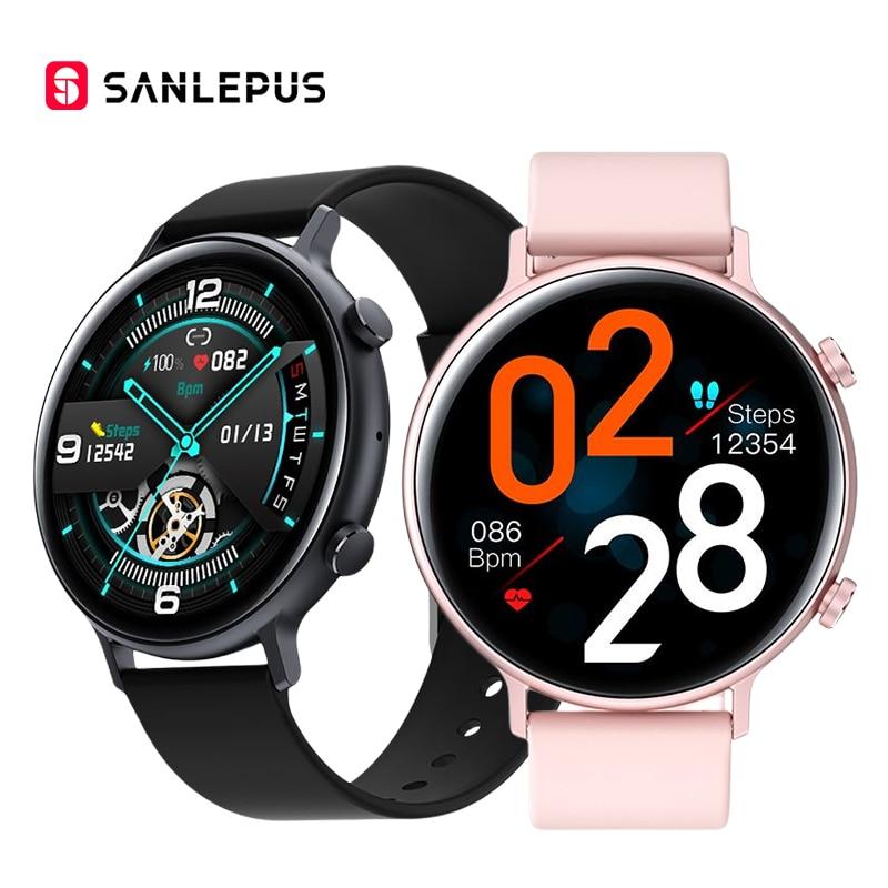 SANLEPUS Fashion Smart Watch 2021 New Women Men Smartwatch Dial Calls Blood Oxygen Heart Rate Monito