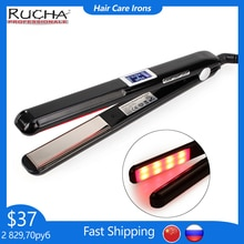 Hair Straightener Infrared and Ultrasonic Profession Cold Hair Care Iron Treatment for Frizzy Dry Re