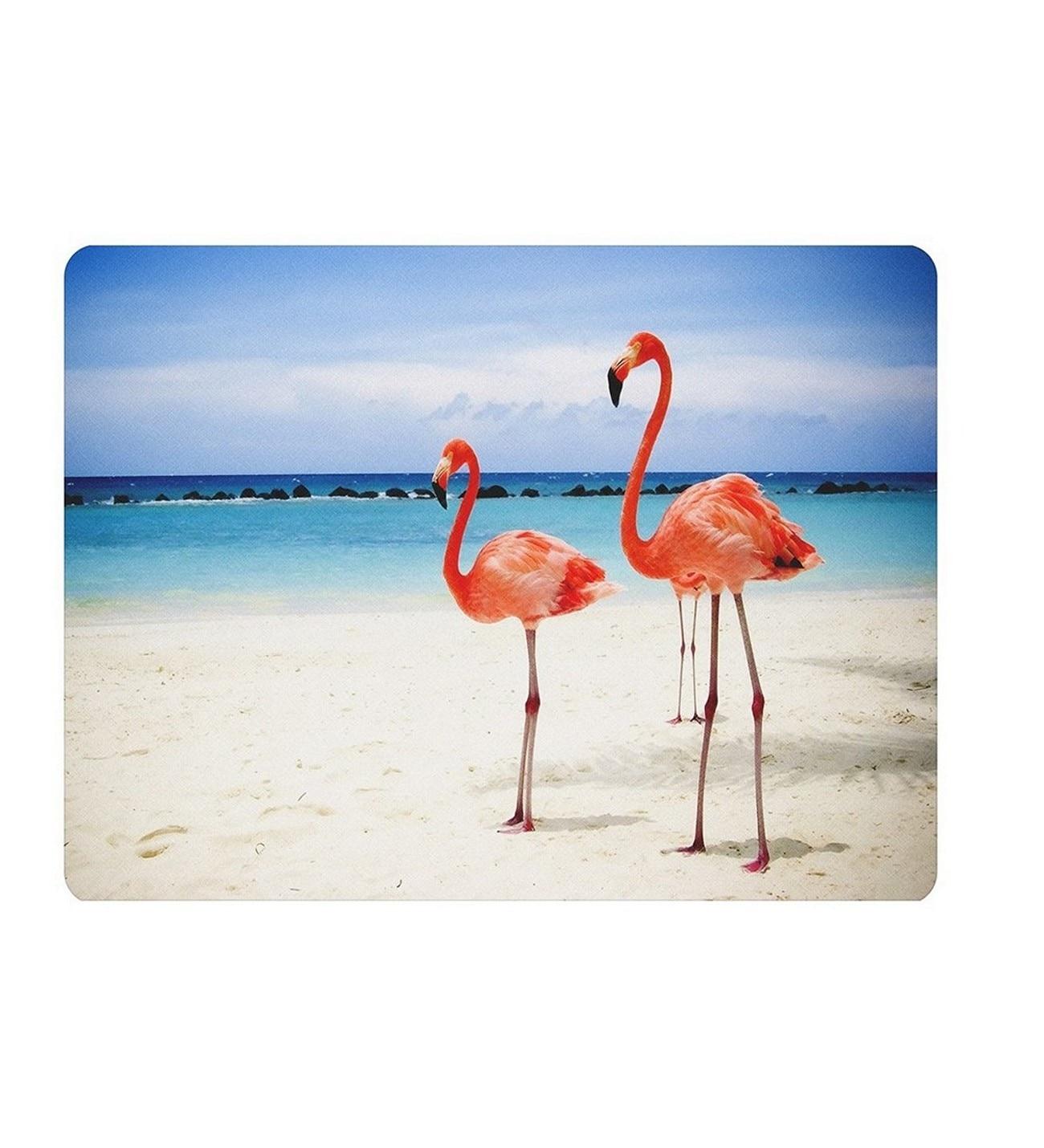 Alfombrilla de ratón Rectangular antideslizante WuW Flamingo
