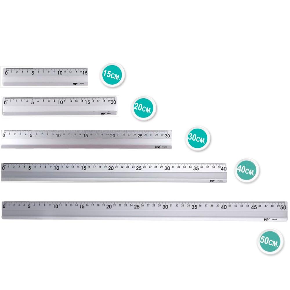 Peça quantidade de estoque de aluminio, herramienta de dibujo para colegio ingenieros 15/20/30/40/50 cm