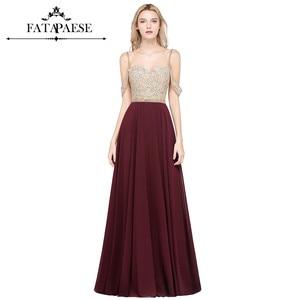 Luxury Beaded Robe De Soiree Femme Chiffion A Line Long Backless Spaghetti Strap Evening Dresses 2019  Vestido Longo Festa