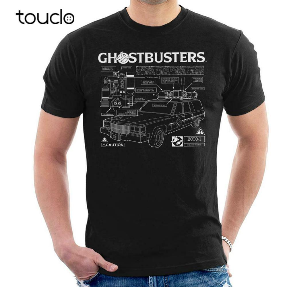 Camiseta masculina de texto branco ghostbusters ecto 1