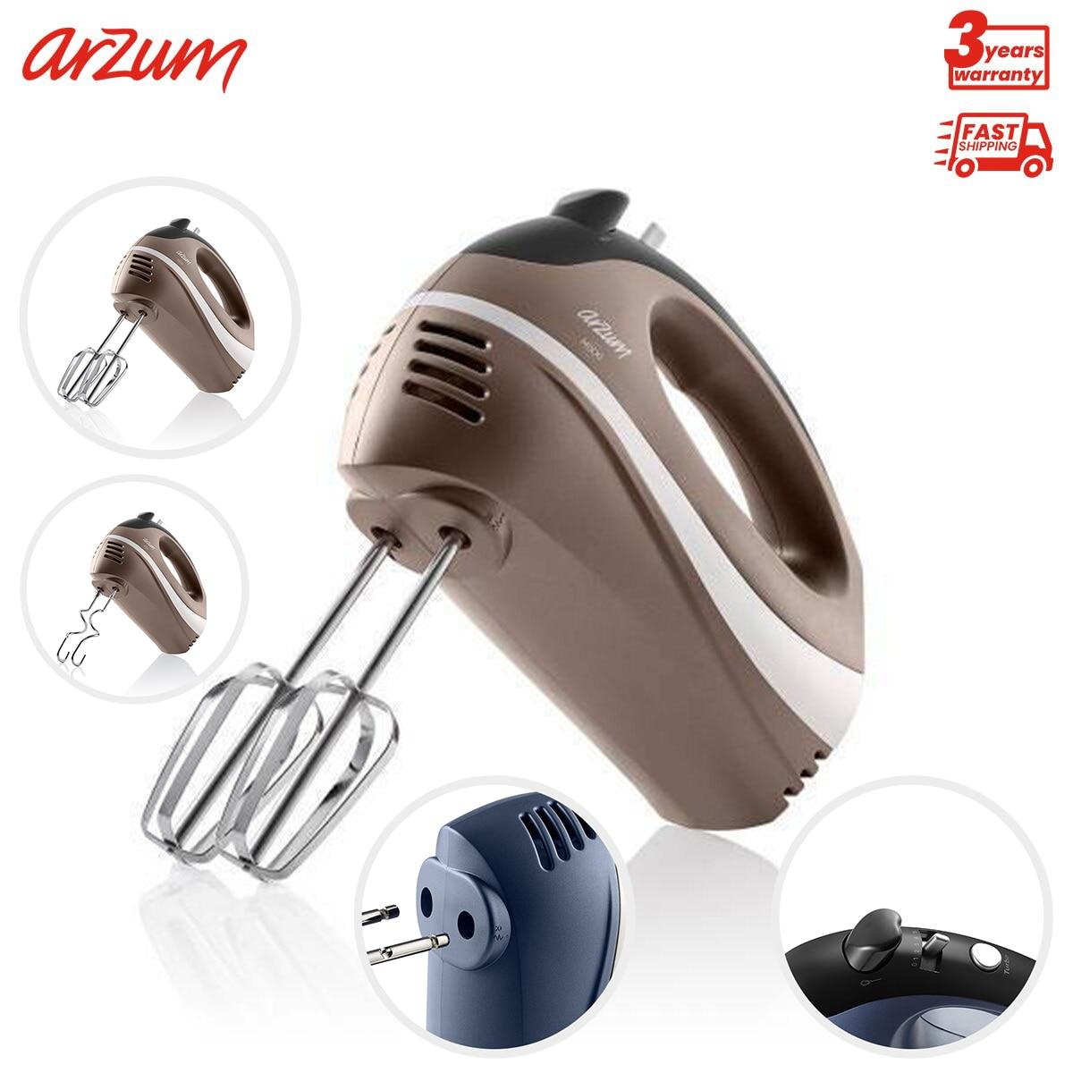 Arzum Mixxi خلاط لون الأرض خفقت العجين العجن جهاز أجهزة مطبخ كهربائي توربو سرعة قابل للتعديل سهلة الاستخدام التلقائي