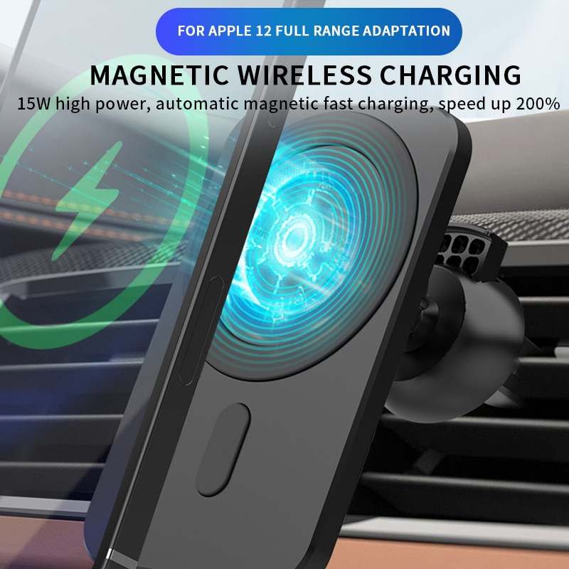15W Magnetic Wireless Car Charger Mount QI for iPhone 12 Pro Max Magsafe Fast Charging Wireless Char