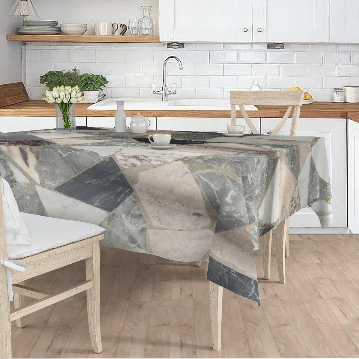 مفرش المائدة غرفة المعيشة المطبخ رمادي هندسي شكل منقوشة مايكرو غطاء من القماش عداء نمط شحن مجاني