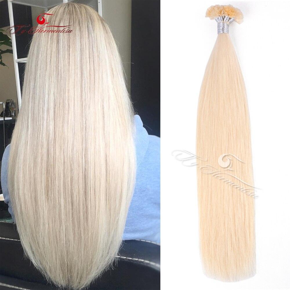 Ty.Hermenlisa U Tip Hair Extensions For Women 100% Human Hair Extensions Salon 1g/s Keratin Hair Wholesale Price 14-22inch