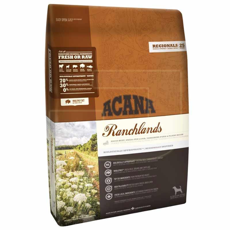 Acana Ranchlands-comida para perros, 2Kg, alimentación para crecimiento saludable