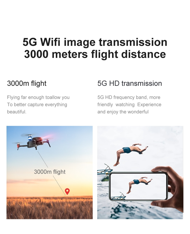 Ucbc5e0c5df93416f9d071f1d0c677106l - 2021 M1 Pro 2 drone 4k HD mechanical 2-Axis gimbal camera 5G wifi gps system supports TF card drones distance 1.6km