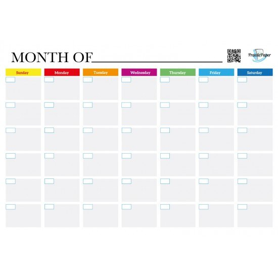 Practicpaper Magnet Monthly Planner Sticker White Paper Easy Installation A3 Refrigerator Flat Self Adhesive Daily Reliable New