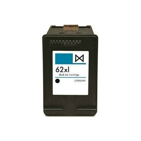 Compatible HP 62XL NEGRO CARTUCHO DE TINTA REMANUFACTURADO C2P04AE C2P05AE 20 ml