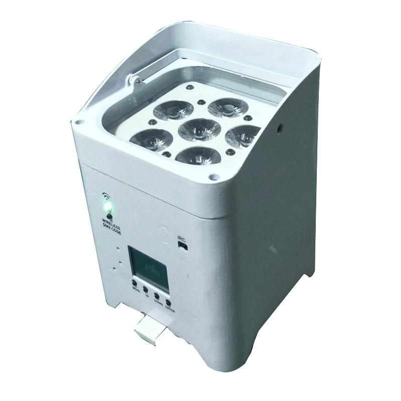 indoor 6x12w 6in1 wash par can battery wirrless dmx control  IRC remote dj dsco stage lights