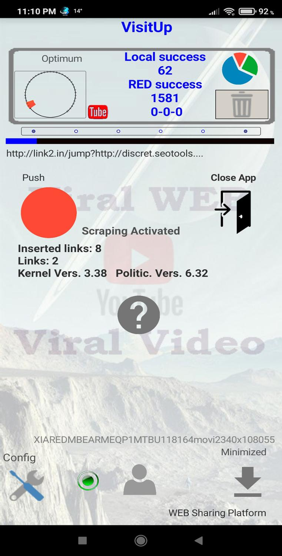 Générateur de visites WEB, de visites YouTube, pour influenceurs ou webmasters. Augmentez votre positionnement SEO