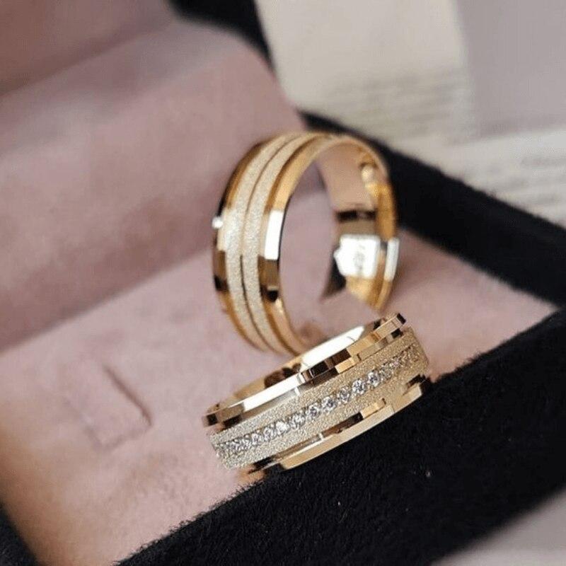 SILVERFONI 925 فضة حقيقية خواتم الزفاف مجموعة للرجال والنساء مجوهرات يدوية الصنع هدية للذكرى السنوية الموسم الجديد الذهب لوحة