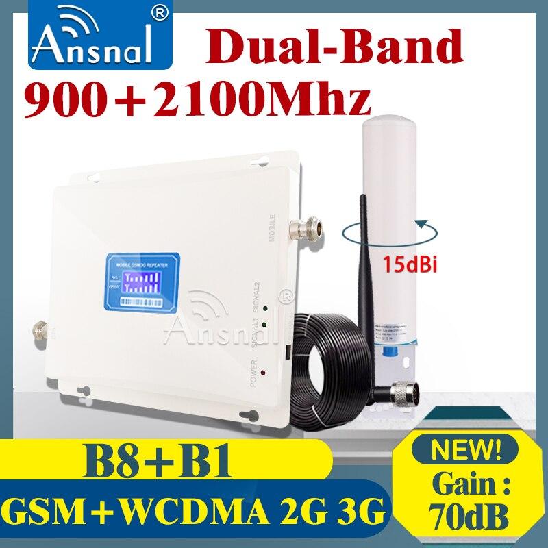 Amplificador 4G 900 2100Mhz Dual-Band celular amplificador GSM repetidor 2g 3g repetidor de señal de red GSM WCDMA 4G repetidor