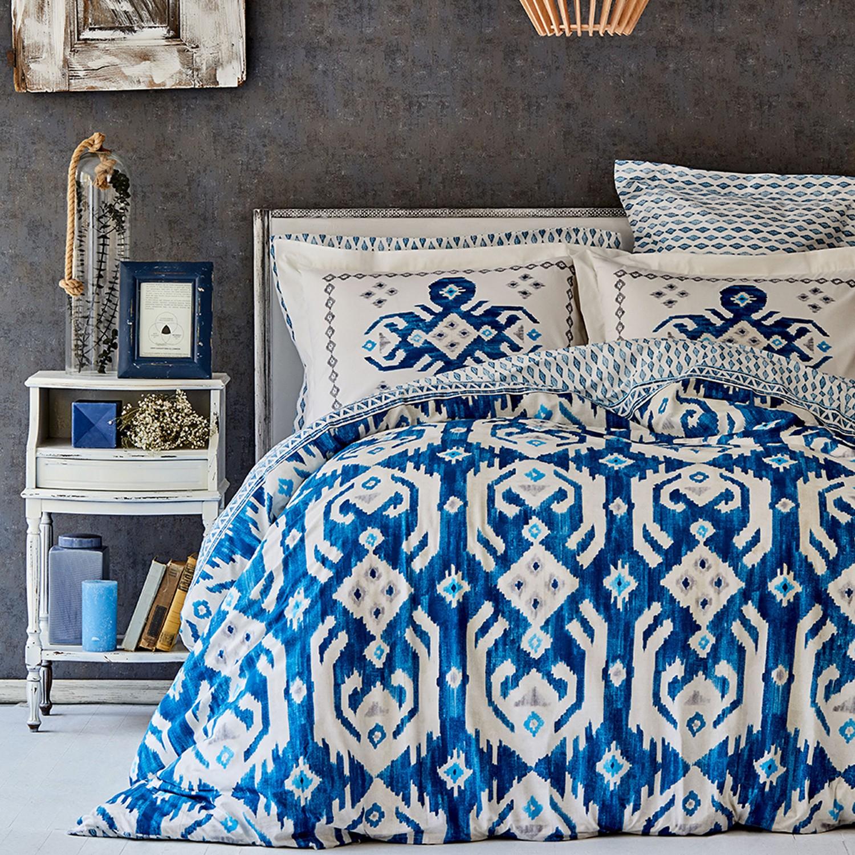 Karaca Home Neos Blue Cotton Double Duvet Cover Set