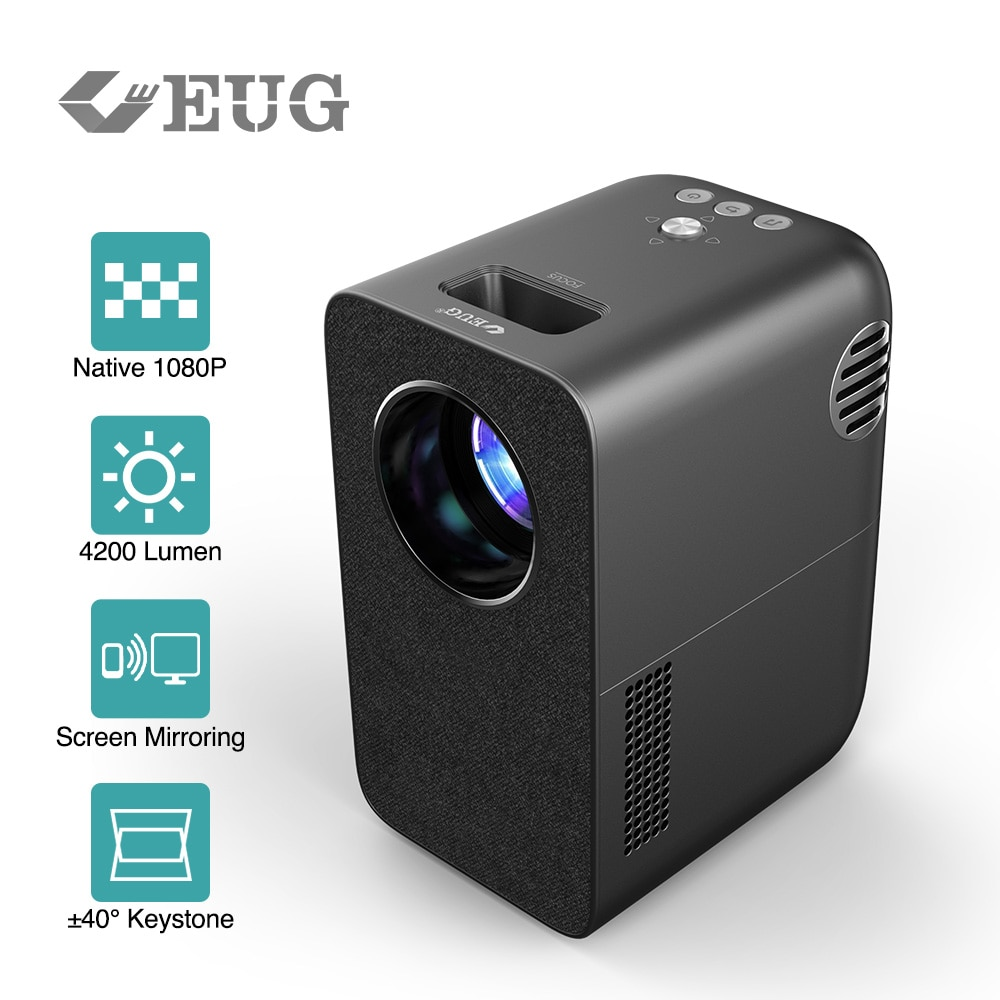 2021 New Vertical Projector 1080P Resolution Support Wireless Airplay LED Video Beamer Home Theater