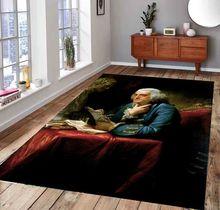 Tapis à motifs Benjamin Franklin, tapis de sol antidérapant, tapis pour adolescents, tapis turc