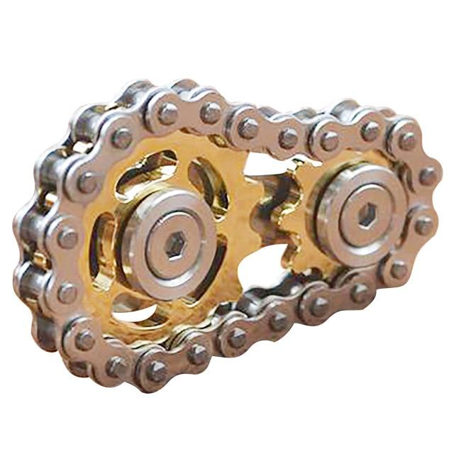 Fingertip Spinner Sprocket Flywheel Flywheel Fingertip Children's Toys Educational Decompression Toys Gold/Silver Fingertip Toys enlarge