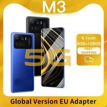 Phones M3 Smartphone 128gb 6gb Ram Cellphones Telephone Mobile Phones For Sale Android Smartphones U