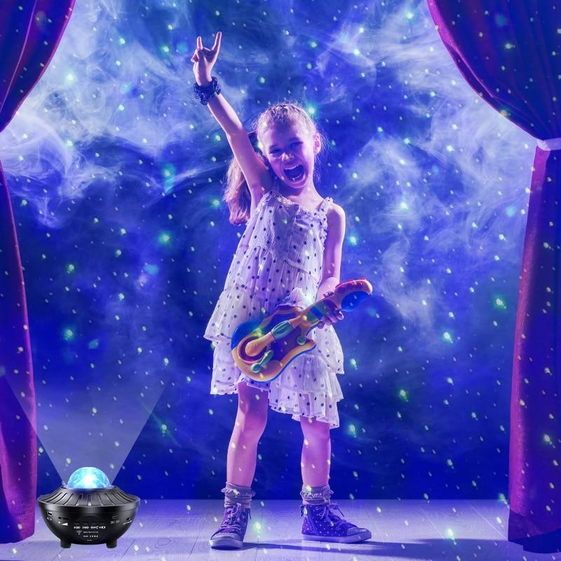 الأطفال LED السماء العارض خرافة مصباح النجوم الدورية التحكم الموسيقى ليلة ضوء غرفة نوم حلم ضوء ديكور المنزل