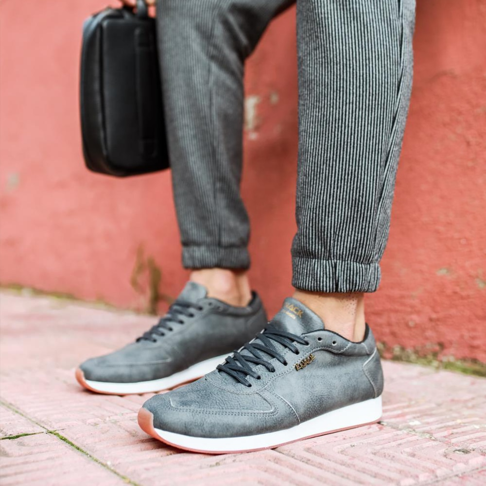 Knack Casual Men's Shoes  Gray Sports Casual Use Lace-up Summer 2021 Fashion Running Men's New High Heel for Teens non-Leather Casual Shoes Summer Shoes Running Shoes Men Men Sneakers Brand Shoes Luxury Sneakers 002