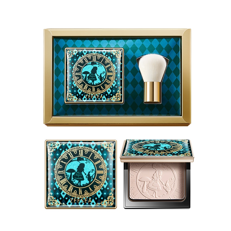 ZEESEA Alice Pressed Powder Limited Gift Box  Lasting Oil Control Setting Makeup Waterproof Loose Powder недорого