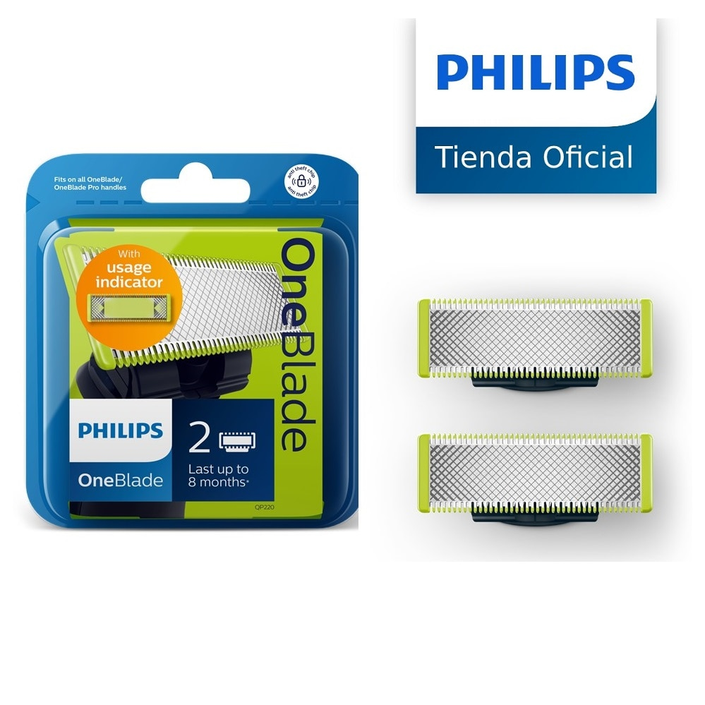 Philips Oneblade QP210, QP220, QP230, QP610, replacement Blade Pack for electric shavers Philips One Blade