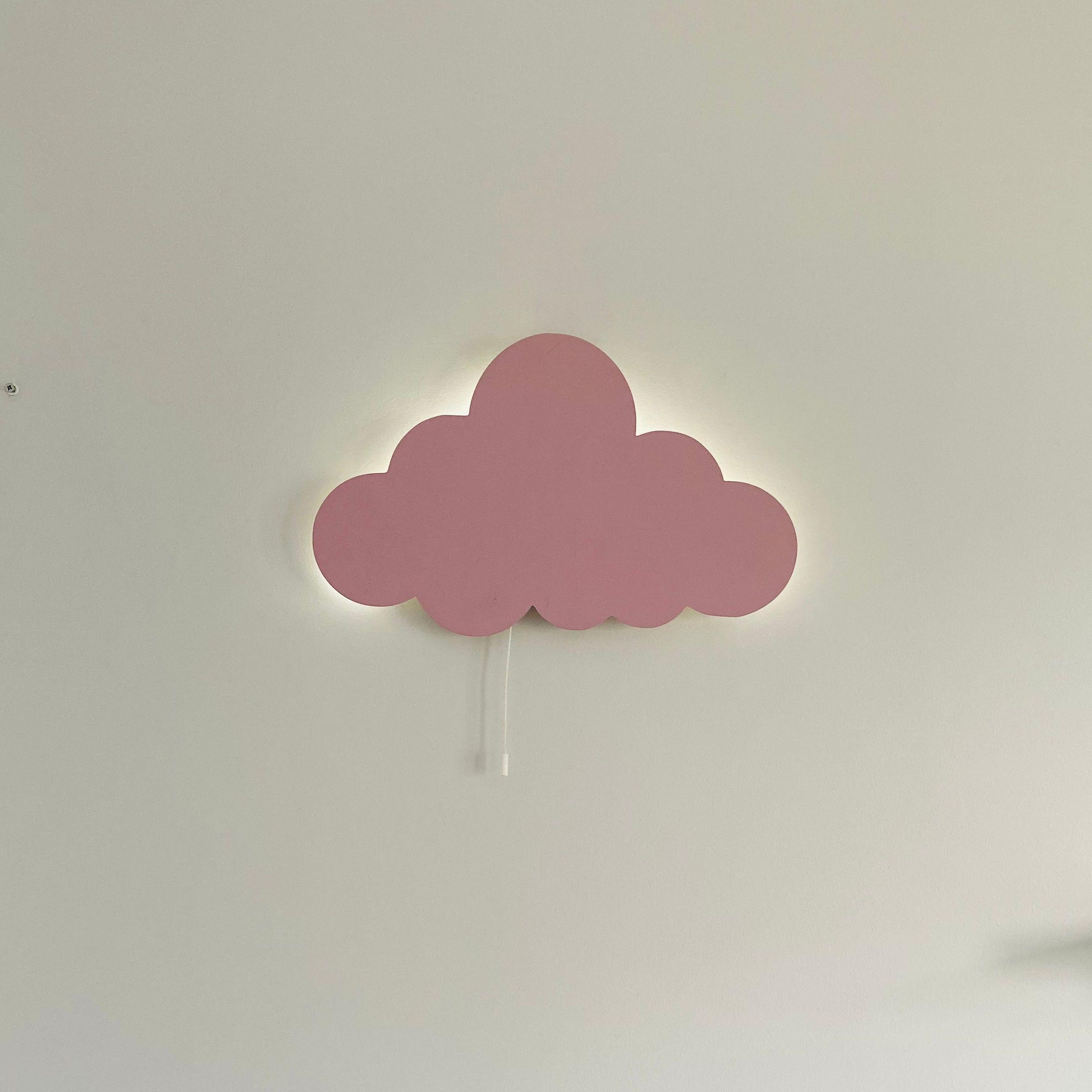 Set of 2- Nursery Night Light, Moon Wall Lamp Cloud Light Baby Bedroom Decor Wooden Led Lampion Wooden Lamps Kids Lamp enlarge
