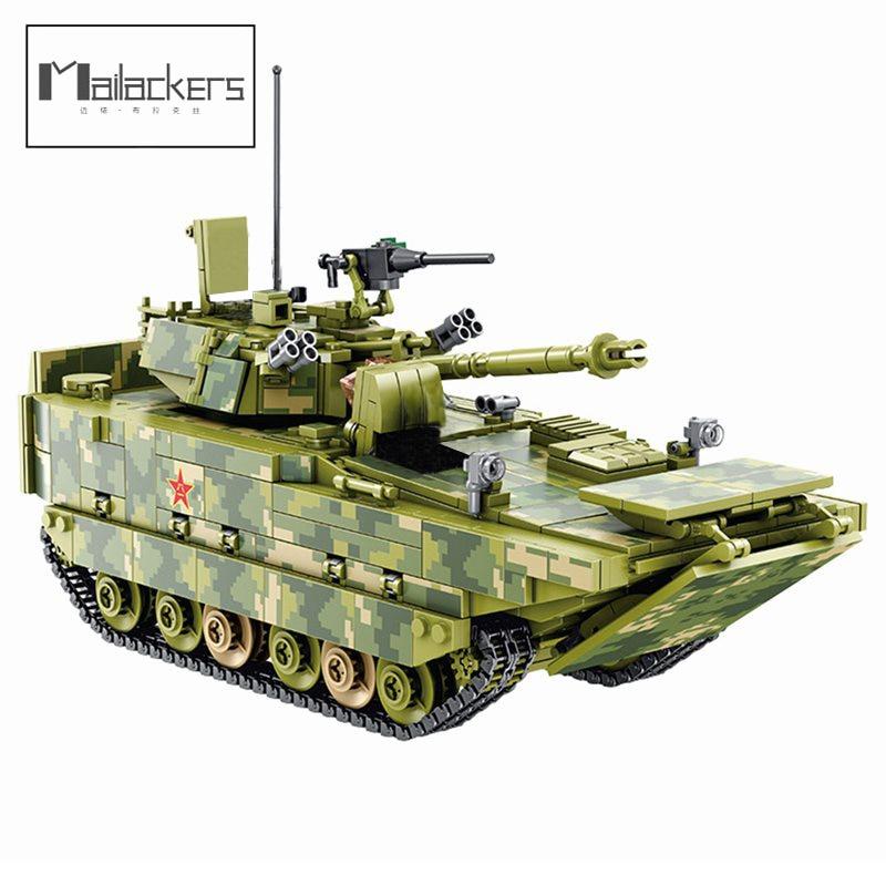 Mailackers ZBD-05 نوع البرمائية المشاة القتال نموذج سيارة ألعاب مكعبات البناء للأطفال النقر كتل مجموعات الأرقام