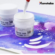 Japan imported Kuretake Watercolor Comics  White Ink Waterproof High-Gloss Water Color Painting Hand