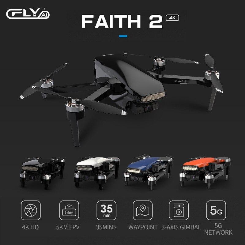 Original Drone Faith 2 4k Professional 3-Axis Gimbal HD SONY Camera 35min Flight Time GPS 5KM Quadcopter Performance CFly faith2