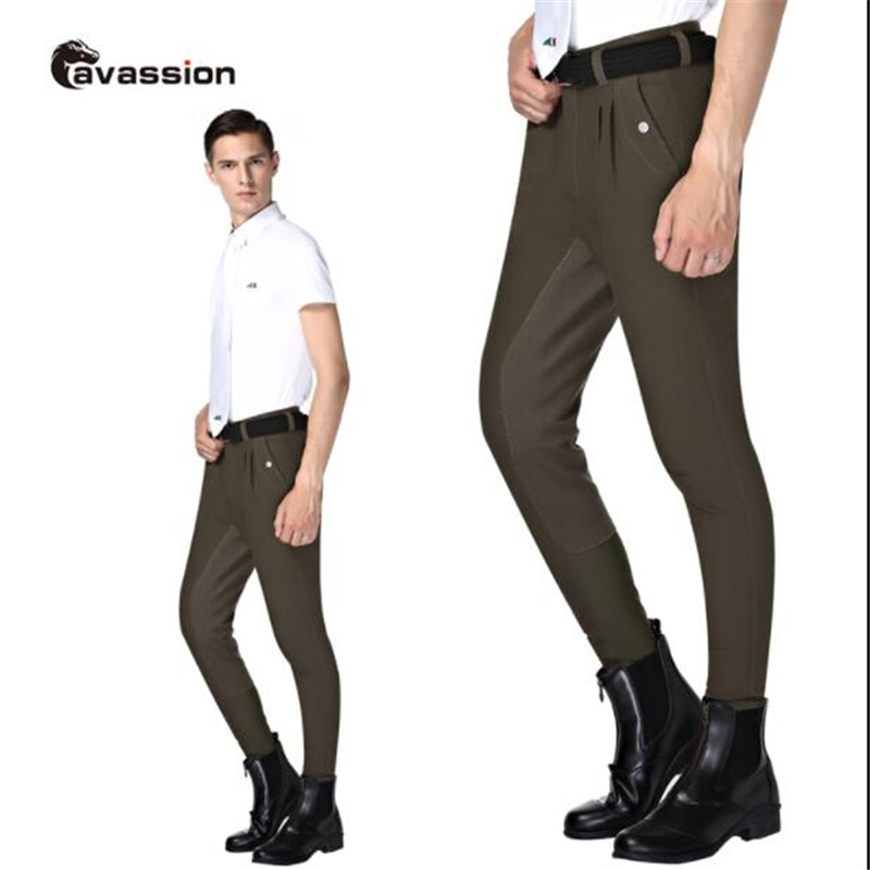 Cavassion Equestrian Micro-Fiber Anti-wear Breeches at knees and hip Equestriian Equipment Classical Design for Beginner