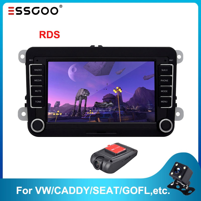 Essgoo Android 7'' Car Radio For Volkswagen For VW Car Multimedia Player Support GPS Navigation Autoradio 2din Stereo Video MP5