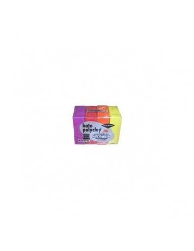 Набор KATO POLYCLAY глина полимер с 4 вида цветов Ассорти 112 гр цвета теплые