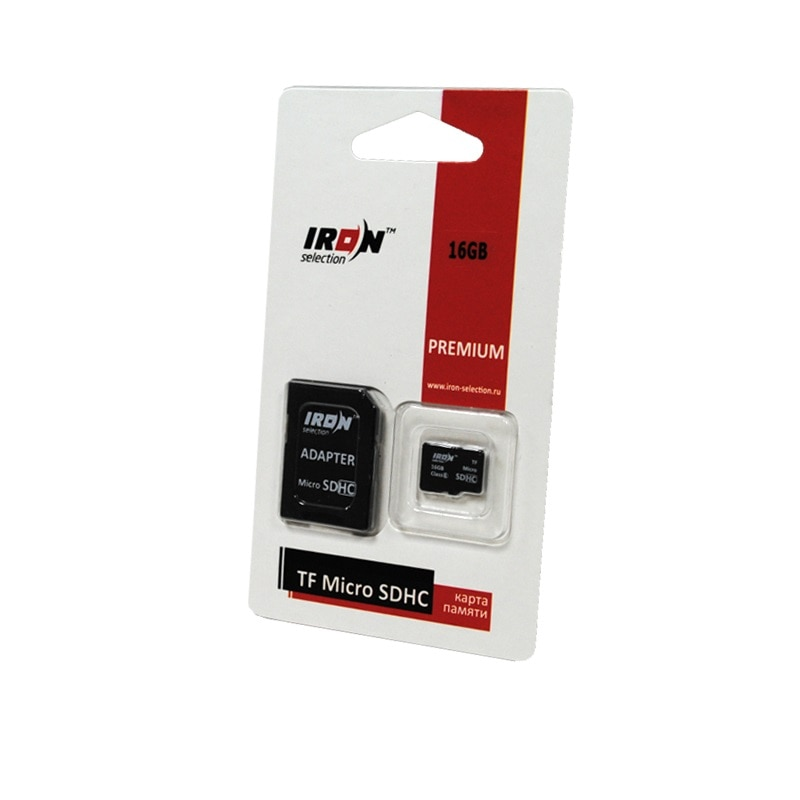 Cartão de memória ferro seleção micro sdhc 16 gb classe 6 adaptador sd
