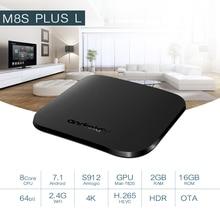 ТВ приставка Mecool M8S PLUS L DDR3 2 Гб 16 Гб 2,4G WiFi Amlogic S912 H.265 HDR 10 Android Box Google Play Miracast