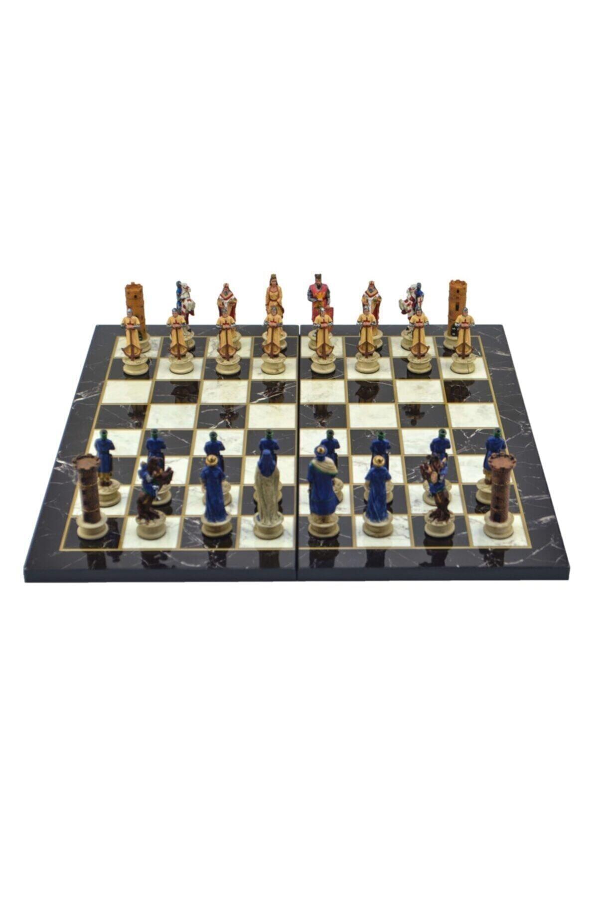 Фото - Atranç Kit/set; Medium, the Seljuk & Crusaders, floor. Marble Pattern Chessboard david talbot devil s chessboard