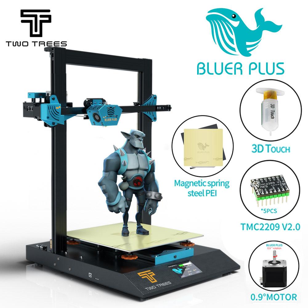 7.15 Pre-sale! 2020NEW TWO TREES BLUER PLUS MKS board BMG extruder 0.9 stepper motor 3d impresora 3D printer Automatic level PEI